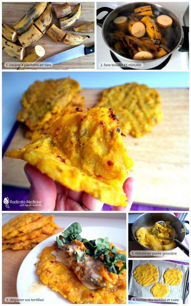 tortilla de plantain (paléo)