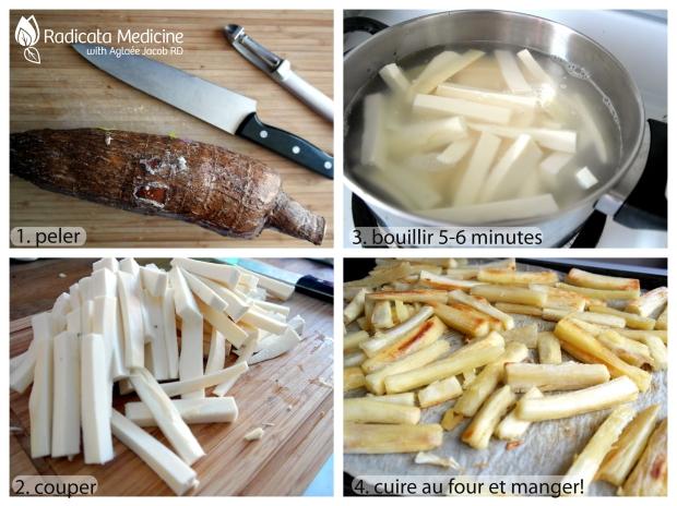 frites de yucca paléo